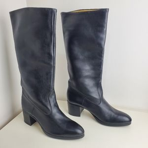 Le Bottier leather boots size 8 tall